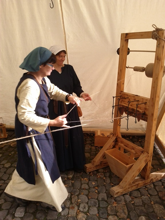Mediaeval rope-making